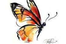бабочки, пчелки, жучки