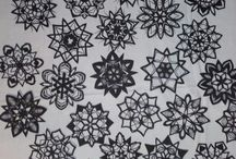 paper snowflakes / PaperiLumihiutaleet snowflakes cut of paper by Kati Kontu