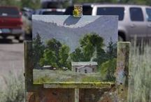"""Plein Air for the Park / Each year, the Rocky Mountain Plein Air Painters come to Grand Teton National Park at the beginning of July to paint """"en plein air"""" or """"in open air"""" in locations across the park. The artists then sell their paintings at an art show at the the end of the week to raise money for the Grand Teton Association. This two-week event includes art demonstrations, as well as a Quick Draw where artists complete a painting from start to finish within two hours."""