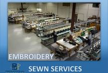 EMBROIDERY / In-house services  with 72 heads of embroidery