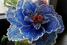 Beading Flowers / Flower of beads, beaded flowers, french beaded flowers