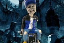 """MILLER ELECTRIC'S WELDING DEAD BOBBLE HEAD COLLECTION / A bobble head that was created by PDI for the Miller Electric company of Appleton, WI, as part of their promotional merchandise program.  Miller produces Miller welders and equipment. It was conceptualized at PDI with a take on the television series, """"The Walking Dead.""""  This bobble head is called, Millers' """"The Welding Dead.""""  It is wearing a Miller welding helmet, jacket and using a Miller welding unit."""