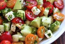 * Salads - cooked & raw / סלטים מבושלים וחיים / by Yonit Shahar
