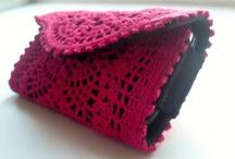 Crochet cell phone cases / My work...cell phone cases made of PVC, fabric and crochet lace. Than you for your interest. LiliAnna