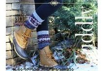 Lovely Leg Warmers / My exclusive collection of quality hand crafted knit leg warmers. Great design and selection to compliment all styles of boots! You may need to buy more boots?  check us out at www.catherinecolestudio.com #legwarmers #lacelegwarmers #bootsocks #bootcuffsocks #catherinecolestudio #fallfashion #boots