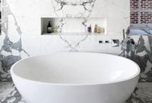 Marble Bathrooms / Nothing says #luxury more than #marble in the# bathroom and you can use a little or a lot to achieve this.