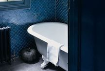 Blue Bathrooms / Blue is a beautifully-calming colour for the bathroom.