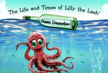 Ocean Commotion / In book three of the series, Ocean Commotion, Lilly the Lash finds herself in the town of Rockin' Reef, where the mysterious disappearance of store items leaves an entire community in distress, and a young octopus pursuing the merits of HONESTY. Lilly, only ever seen by the reader, sends in a cool and caring shrimp to help the octopus realize the effects of her actions; prompting her to stand tall, accept responsibility, and set things straight!