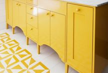 Yellow Bathrooms / Keeping it bright, light and sunny are the keys to working with a yellow bathroom.