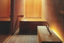 Japanese Bathrooms / Japanese homes are elegant and stylish and that includes their bathrooms.