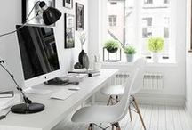 Sleek Office Style / Sleek, modern office furniture and decor.