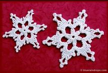 Crocheted snowflakes / crocheted snowflakes, patterns and ideas