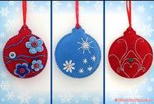 Christmas ornaments / Christmas felt ornaments, Christmas crocheted ornaments