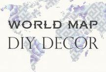WORLD MAP DIY decor
