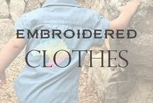 Embroidered clothes / Embroidery on a Clothes Ideas