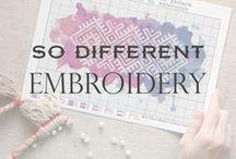 So Different Embroidery / Different Embroidery and Amasing Cross Stitch