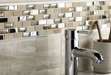 Bathroom Mosaics / Perfect to bring the final touch to your #bathroom, #Mosaics can be the best option. Mosaics can be made from ceramic, stone or glass. They're very #decorative, come in a huge range of #colours and textures, and will make a real focal-point statement in the bathroom.
