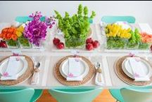Tablescapes / An array of centerpieces we've used, from beautiful florals to conceptual creations.