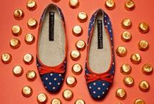 A Selection of our Slippers / Jacques Levine's classic Spanish wedge slippers.