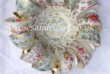 Roses & China - Vintage China Hire / At Roses & China we hire out elegant vintage and 'vintique' china, silverware, table linen and general partynalia for weddings and festive events. Here are some of our looks