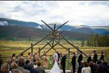 Event: Elegant Mountaintop Wedding; August 2008 / Lisa and Eric celebrated their rustic-chic wedding in the beautiful Colorado mountains. Our vision was to create a memorable two day celebration. Also, to Incorporate iconic pieces of the American West into every piece of the celebration; personalize the experiences of the guests for this destination wedding.  Photography: by David Wegwart