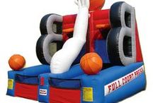 Our Inflatables / Rolling Games Mania is PUMPED (get it?) to now offer inflatable rentals to accompany our mobile video game trailer.