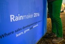 """Event: Rainmaker16 Conference / The WM Events team coordinated and designed an incredible series of events for a 3-day conference at the Westin Buckhead! Complete with an immaculate stage set and custom branded touches throughout, this conference definitely """"made it rain."""""""