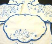 """""""Linens, Textiles & Sewing Collectibles Vintage"""" by GotVintage Shops / Looking for vintage draperies, tablecloths, quilts, handkerchiefs and other fun or elegant linens and textiles? How about some super sewing items to go with? Here they are! Want to see more? Please visit our Facebook page at http://www.facebook.com/VintageLinensAndTextilesForSale"""