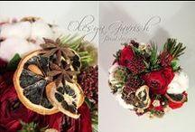 Зимний букет невесты. Winter bridal bouquet