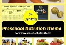 Preschool Nutrition Theme / A Nutrition Theme for Preschool with over 50 activities!  http://www.preschool-plan-it.com/preschool-nutrition.com