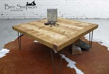 Wooden Hairpin Furniture / A compilation of Rustic Modern hairpin furniture, showing you a range of Designs & Styles
