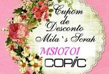 Cupom de Desconto Copic Brasil / Sobre o Cupom de Desconto mensal Mila`Scrap.  Desconto de 5% para qualquer produto do Site da Copic Br www.copic.com.br
