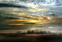 Landscapes / Ethereal oil paintings with an emphasis on colour and light. Visit: https://kimberleyharrisgallery.co.uk