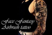 Airbrush Tattoo by Face Fantasy   BodyArt / Airbrush tattoos and bodyart
