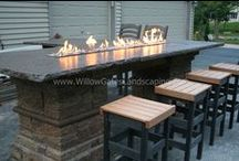 Special Fire Feature For Sale- SOLD / Custom fire table built for a special event, now offered for sale!  Call 717-341-0540 or email willowgates@dejazzd.com for more info.  UPDATE: This feature has taken up permanent residence at our home!  :)  We can build a similar or even better fire table for you with more advanced burners with better, more efficient flame.
