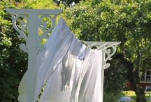 On The Line / Memories of Mommy - As a child I remember my Mom hanging laundry outside to dry. Nothing like the smell of fresh laundry dried outside.