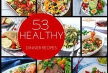 Healthy Dinner Recipe Ideas / A collection of healthy dinner recipe ideas to help welcome in 2016. Eating healthy doesn't have to be hard. Check out these easy recipes!