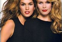 Topnmodellen Claudia Schiffer & Cindy Crawford
