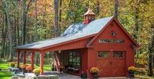Pole Barn Garages / From traditional pole buildings like garages and barns to custom equine facilities and commercial structures, look no further than Pinterest, the world's catalog of ideasfor Pole Barn Garage designs. #garage #garagedoors