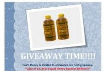 Giveaways / All giveaways for Cox's Honey