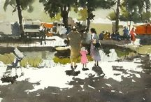 John Yardley-Contemporary Watercolour Impressionist (UK) / John Yardley is recognised as one of Britain's finest watercolourists. Born in Beverley, Yorkshire in 1933, he commenced painting as a full-time profession in 1986, following a career in banking. Having had no formal training, Yardley maintains that this has given him the freedom to find his own style.