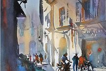 Thomas W Schaller-Watercolours, (US) / After 20 years in New York City as an architect and architectural illustrator,T. Schaller has been based in Los Angeles since 2006, where he devotes himself full-time to artwork in the watercolor medium.
