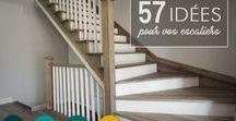 Montée d'escalier : 57 inspirations petits budgets / Comment aménager sa montée d'escalier, comment la peindre, comment la décorer ? Doit-on y accrocher des photos ? Des miroirs ? Des plantes ? Il y a tellement de possibilités que l'on n'arrive pas forcément à trancher alors je vais vous donner mes 57 inspirations à travers 10 thèmes pour réussir la déco de votre montée d'escalier avec un petit budget. Trouvez l'idée qui vous ressemble et faites de votre cage d'escalier une pièce déco à part entière de la maison .