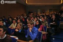 """Verslauk!"" seminars / Pictures and moments from ""Verslauk!"" business plan competition seminars."
