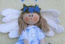 cucito - bambole, angeli, gnomi, fate, folletti..... / .... e tanti pupazzi, tutto in tessuto / by Mariellam