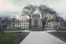 """Merging Time / Langara College's fascinating """"Merging Time"""" project blends photos from the Vancouver Archives with images from the modern day. Photo-editing students create mash-ups that seamlessly merge past and present."""