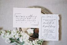 // Olive Branch & Co - Wedding Calligraphy / Wedding calligraphy by Olive Branch and Co, including invitations suites, envelopes, day of paper goods, and more!