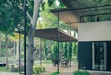 Pergolas (Project Specific) / Outdoor shade structures, often festooned with lovely vines! Play bocce underneath, ideally...