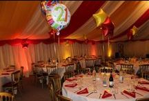 Party Marquees / Party marquees and ideas for layouts, interior design etc.