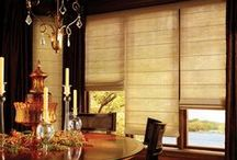 Window Treatment Ideas / Window treatments should not only make a design statement, they can also help you control the light in a room and enhance energy efficiency!  Visit Interiors in-store Hunter Douglas Gallery and learn more!